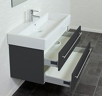 duravit vero 100 cm keramik inkl emotion badm bel anthrazit seidenglanz dc513. Black Bedroom Furniture Sets. Home Design Ideas