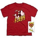 Popfunk Flash Retro Youth T Shirt (Medium) (Color: Red, Tamaño: Medium)