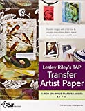 Lesley Riley's Tap, Transfer Artist Paper: 5 Iron-on Image Transfer Sheets 8.5 X 11