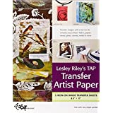Lesley Riley's TAP Transfer Artist Paper 5-Sheet Pack: 5 Iron-on Image Transfer Sheets  8.5 x 11 ~ C&T PUBLISHING