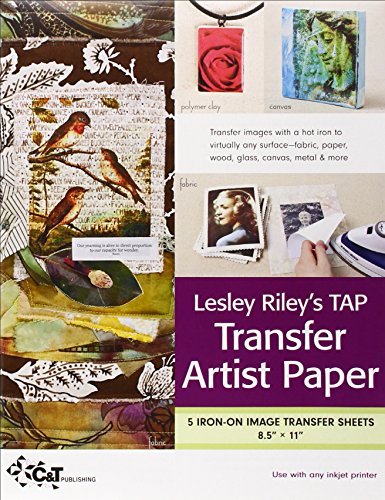 Lesley Riley's TAP Transfer Artist Paper 5-Sheet Pack: 5 Iron-on Image Transfer Sheets  8.5 x 11 (Image Transfer Sheets compare prices)