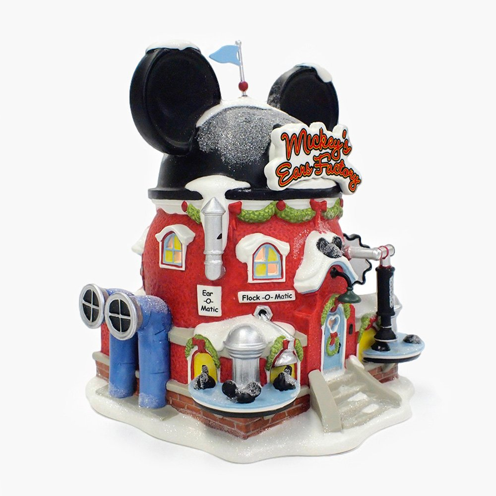 Department 56 North Pole Village Miniature Lit Building, Mickeys Ears Factory