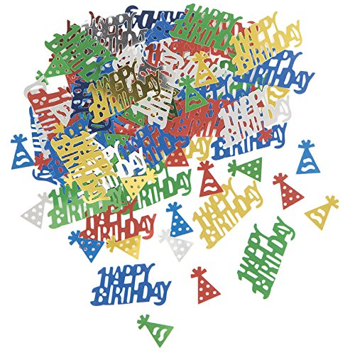 Foil Happy Birthday Confetti, Assorted 3pk - 1