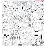 Mona Melisa Designs Color Me Peel And Stick Wall Decorative Stickers, Pet Fashion