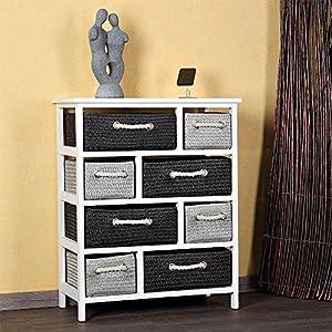 landhaus kommode schrank sideboard badschrank regal wei 8 k rben k chenschran. Black Bedroom Furniture Sets. Home Design Ideas