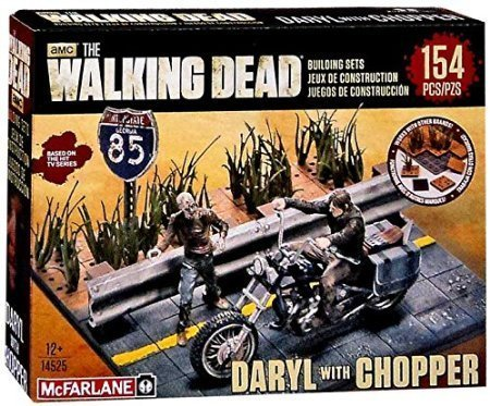 McFarlane Toys The Walking Dead Building Set - Daryl Dixon with Chopper(154 pieces) by USA