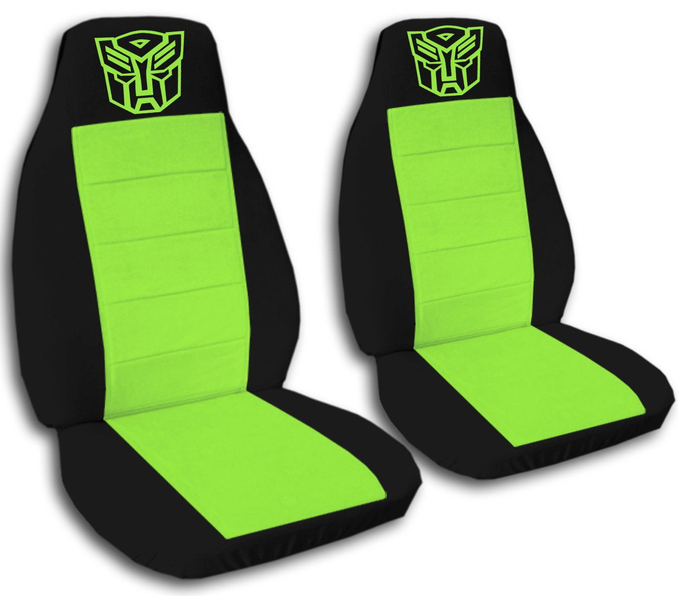 2 Black and Lime Green Robot seat covers for a 2005 to 2010 Jeep Grand Cherokee. plush toys simulation dog