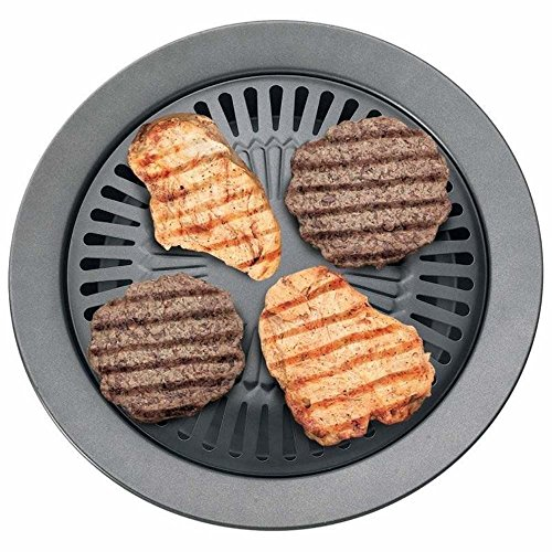 NEW Chefmaster KTGR5 13-Inch Smokeless Stovetop Barbecue Grill Pan Griddle Skillet