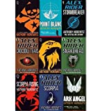 Anthony Horowitz Alex Rider Collection 9 books Set By Anthony Horowitz. (Scorpia Rising Stormbreaker Point Blanc Skeleton Key Eagle Strike Scorpia Ark Angel Snakehead Crocodile Tears)