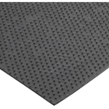 "Notrax 168 Opus Entrance Mat, for Heavy Traffic Areas, 4' Width x 6' Length x 3/8"" Thickness, Charcoal"