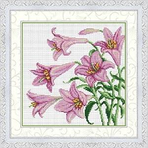 Amazon.com: Cross stitch embroidery kit lily NO. 21830J (japan import
