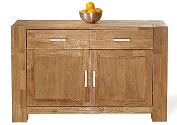 XXS® Möbel Zeus Kommode 1609 teilmassive Wildeiche geölte Oberfläche 2 Holzturen 2 Schubladen