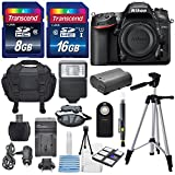 Nikon D7200 24.2MP CMOS Digital SLR Camera (BODY) Total of 24 GB SDHC Class10 +Extra Battery & AC DC Turbo Travel Charger + Complete Deluxe Accessory Kit - International Version