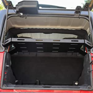 RT-TCZ for Jeep JK JL Interior Rear Cargo Basket Rack Solid Metal Luggage Storage Carrier for 2011-2018 Jeep Wrangler JK /& 2018-2020 JL Unlimited Sahara Sport Rubicon Accessories