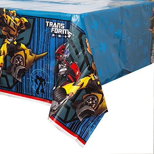 "Unique Transformers Plastic Tablecloth, 84"" x 54"" - 1"