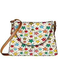 Snoogg Abstract Colorful Stars Designer Womens Carry Around Sling Bags