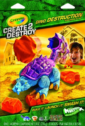 Crayola Create 2 Destroy Dino Destruction Suburban Slam - 1