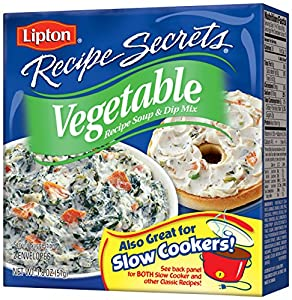 Lipton Recipe Secrets, Vegetable, 2-Count 1.8-Ounce Boxes (Pack of 12)