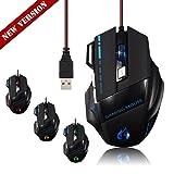 Mouse para juegos ZhiZhu 820-1600-2400-4000 DPI  ajustable nueva versión, profesional  LED 500 Hz, 6000 FPS, 4000 DPI USB 7  botón óptico