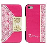 TPT Sweet Cute Flip Wallet Leather Cover for Iphone 5s 5 5th