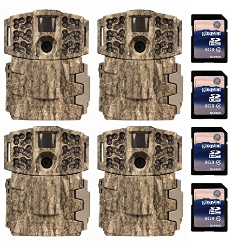 4-Moultrie-Low-Glow-14MP-Mini-888-Infrared-Trail-Game-Cameras-8GB-SD-Cards