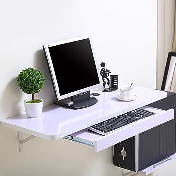 HWF Mesa plegable de pared Mesa de trabajo Mesa de trabajo Mesa de aprendizaje Mesa de pared Tamaño de color Opcional ( Color : B , Tamaño : 80*40cm )