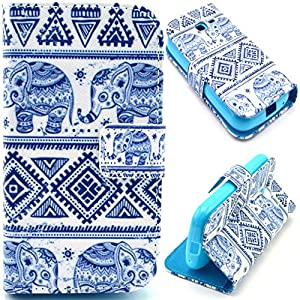 Cuir Coque Strass Case Etui Coque étui de portefeuille protection Coque Case Cas Cuir Swag Pour Samsung Galaxy Trend Lite S7392 S7390 C07
