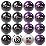 NFL Baltimore Ravens Home Versus Away Team Billiard 8-Ball Set