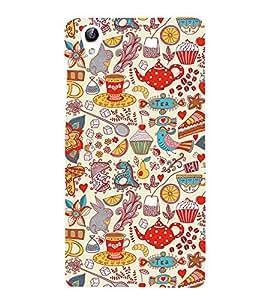 Tea pattern Designer Back Case Cover for Vivo Y51L