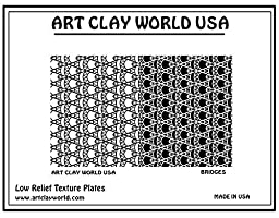 Art Clay World USA Low Relief Texture Bridges - 1 Pc.