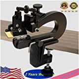 VPABES Leather Paring Machine, Manual Leather Craft Edge Skiving Tool Machine, Leather Splitter Skiver, Hard Leather Peeler Edge Skiving Cutting Peeling Machine +Blade (Color: Black)