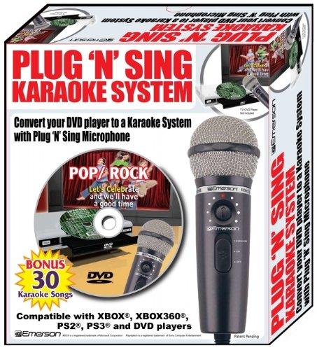 Emerson Mm205 Plug N Sing Handheld Karaoke Microphone W/30 Songs front-566539