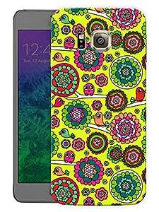 "Humor Gang Ethnic Birds Doodle Cute Printed Designer Mobile Back Cover For ""Samsung Galaxy Alpha"" (3D, Matte, Premium Quality Snap On Case)"
