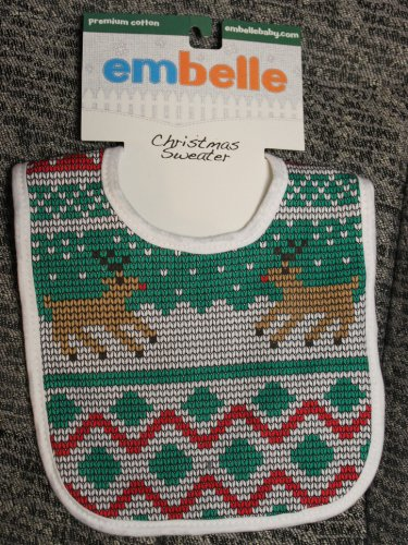 Embelle Cotton Bib - Christmas Sweater - 1