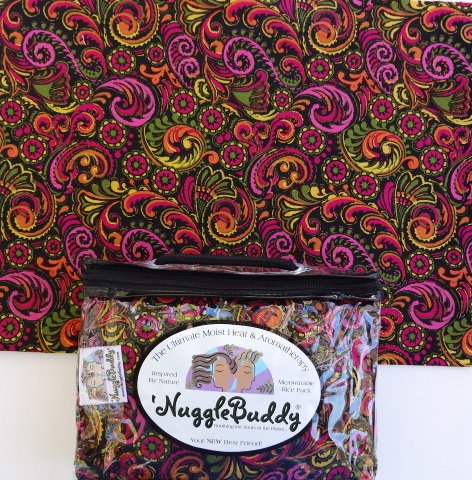 "'Nugglebuddy Moist Heat & Aromatherapy Organic Rice Pack For Microwave. Cold Pack. ""Garden Paisley"" Fabric! Unscented! See Over 100 Additional 'Nugglebuddy Selections By Searching For Nugglebuddy Under ""All Departments."""