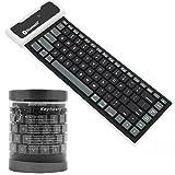 GBSELL Bluetooth Wireless Waterproof Silicone Keyboard For iPad 2 3 4 Mini For Samsung (Black)