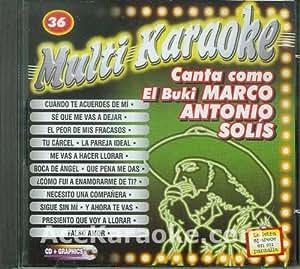 MultiKaraoke OKE-0036 CANTA COMO MARCO ANTONIO SOLIS CDG