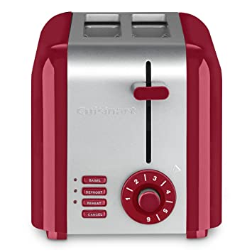 Amazon.com: Cuisinart CPT-320R 2-Slice Compact Toaster, Stainless Steel/Red: Kitchen & Dining