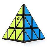D-FantiX Qiyi Pyramid Cube, 3x3 Pyramid Speed Cube Triangle Cube Puzzle Black