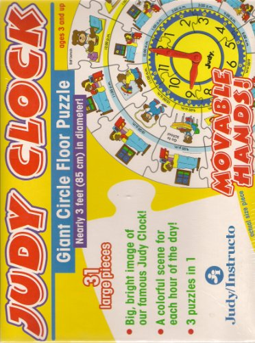 Picture of Judy/Instructo Judy Clock Giant Circle Floor Puzzle (B00450QVQS) (Floor Puzzles)