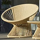 Jan Kurtz Lounge Sessel RAY , Gestell: Alu pulverbesch. Sitz: Seil beige 6 mm aus 100 % Polyester