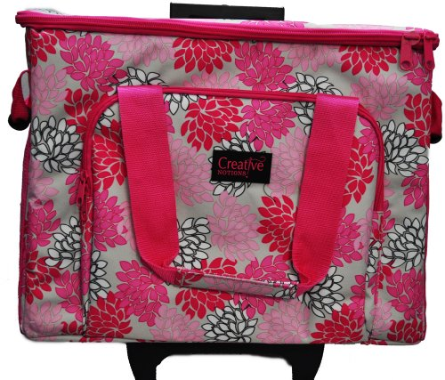 Sewing Machine Trolley Pink Grey Floral front-74321