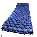 WEINAS Sleeping Pad Ultralight Compact Camping Backpacking Air Pad With Pillow Inflatable Sleeping Mat Portable Hiking Mattress (Blue) (Blue) (Color: Blue)