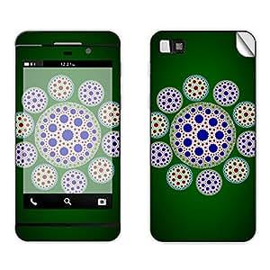 Skintice Designer Mobile Skin Sticker for BlackBerry Z10, Design - Circle Motif