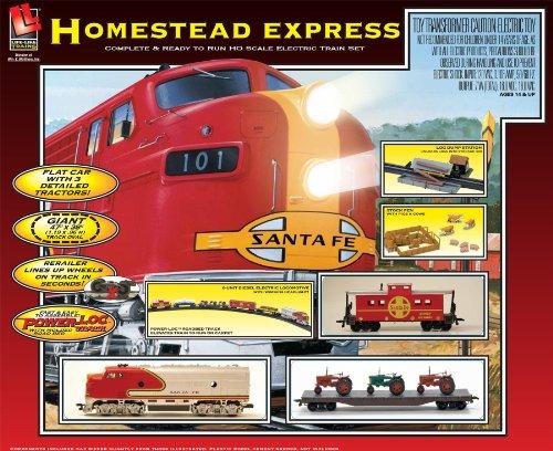 Life Like Ho Scale Homestead Express Train Set