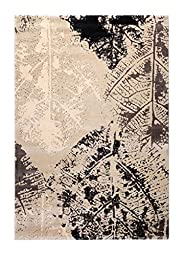 CT RUGS Contemporary Botanical Beige Area Rug 6\'7\'\'x9\'6\'\'