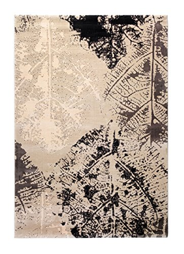 CT RUGS Contemporary Botanical Beige Area Rug 5'3''x7'7'' Botanical Contemporary Rug