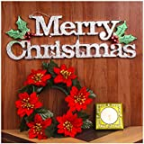 Christmas Door Decor With Gel Candle