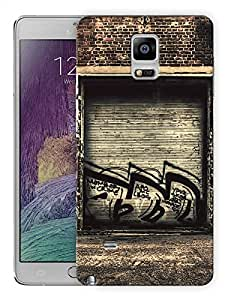 "Humor Gang Grungy Garage Graffiti Printed Designer Mobile Back Cover For ""Samsung Galaxy Note 4"" (3D, Matte, Premium Quality Snap On Case)"