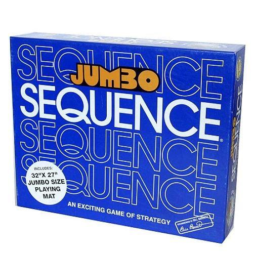 Jumbo Sequence w/ FREE bonus chips (Sequence Board Game Jumbo compare prices)